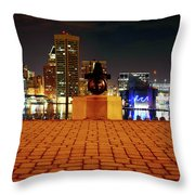 Canon View Of The City Throw Pillow