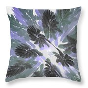 Daytime Jungle Sky By Jammer Throw Pillow