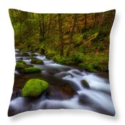 Canopy Of Green Throw Pillow