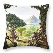 Canopy Walk Cover Art Throw Pillow