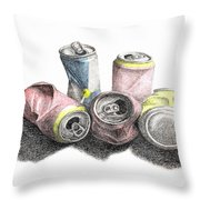Cans Sketch Throw Pillow