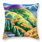 Can't- See The Forest Thur The Woman Throw Pillow