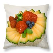 Cantaloupe Breakfast Throw Pillow