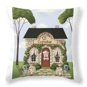 Canterbury Cupcakes Throw Pillow by Catherine Holman