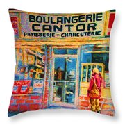 Cantors Bakery Throw Pillow