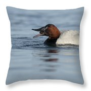 Canvasback On The Mussel Throw Pillow
