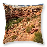 Canyon At Calf Creek Throw Pillow
