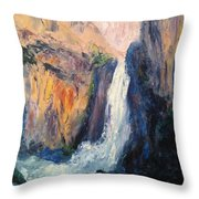 Canyon Blues Throw Pillow