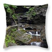 Canyon Cascade Throw Pillow