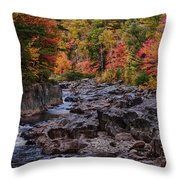 Canyon Color Rushing Waters Throw Pillow