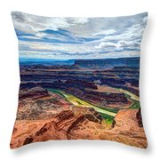 Canyon Country Throw Pillow by Chad Dutson