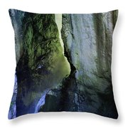 Canyon Creek Narrows And Spills Thousands Of Gallons A Minute  Throw Pillow