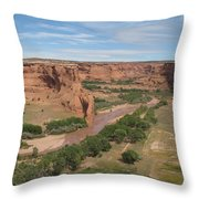 Canyon De Chelly Overview Throw Pillow