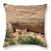 Canyon De Chelly Ruins Throw Pillow