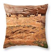 Canyon Dechelly Pueblo Ruins Throw Pillow