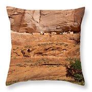 Canyon Dechelly Whitehouse Ruins Throw Pillow