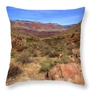 Bright Angel Trail, The Grand Canyon  Throw Pillow