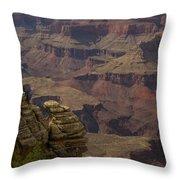 Canyon Jenga Throw Pillow