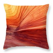 Canyon Kissed By The Sun Throw Pillow