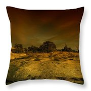 Canyon Land Utah Throw Pillow