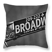 Canyon Of Heroes Throw Pillow by Susan Candelario