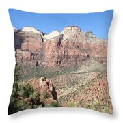 Canyon Overview Zion Park Throw Pillow