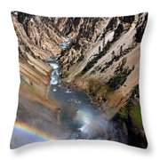 Canyon Rainbow Throw Pillow