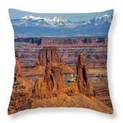 Canyon View From Mesa Arch Overlook Throw Pillow