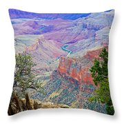 Canyon View From Walhalla Overlook On North Rim Of Grand Canyon-arizona  Throw Pillow