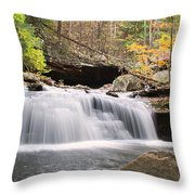 Canyon Waterfall-artistic Throw Pillow