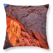 Canyonlands Orange Band Throw Pillow