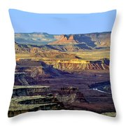Canyonlands View From Green River Overlook Throw Pillow