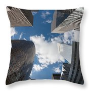 Canyons Of New York I Throw Pillow