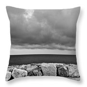 Caorle Dream Black And White Throw Pillow