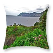 Cap-bon-ami In Forillon Np-qc Throw Pillow