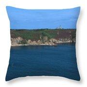 Cap Frehel Peninsula In Cotes-darmor Throw Pillow