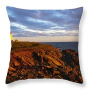 Cape Anguille Lighthouse Throw Pillow