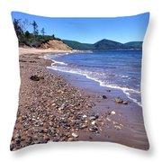 Cape Breton Island Aspy Bay Throw Pillow