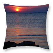 Cape Charles Rocky Sunset  Throw Pillow