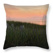 Cape Cod Bay Sunset Throw Pillow
