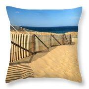 Cape Cod Beach Throw Pillow
