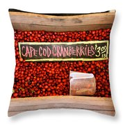 Cape Cod Cranberries Throw Pillow