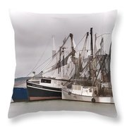 Cape Cod Fishing Boats Throw Pillow