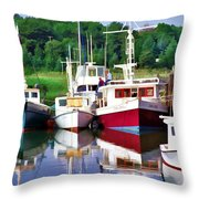 Cape Cod Harbor  Throw Pillow