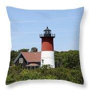Cape Cod - Nauset Lighthouse - Ma Throw Pillow