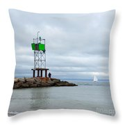 Cape Cod Sea Life Throw Pillow