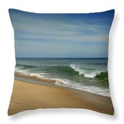 Cape Cod Waves Throw Pillow