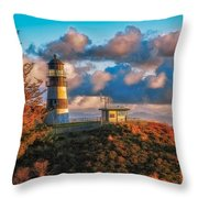 Cape Disappointment Light House Throw Pillow