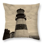 Cape Disappointment Lighthouse 2 Throw Pillow