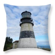 Cape Disappointment Lighthouse 3 Throw Pillow